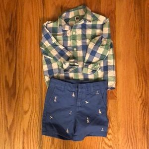 Janie and jack toddler boys shorts and shirt